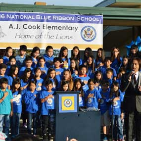 Cook elementary students