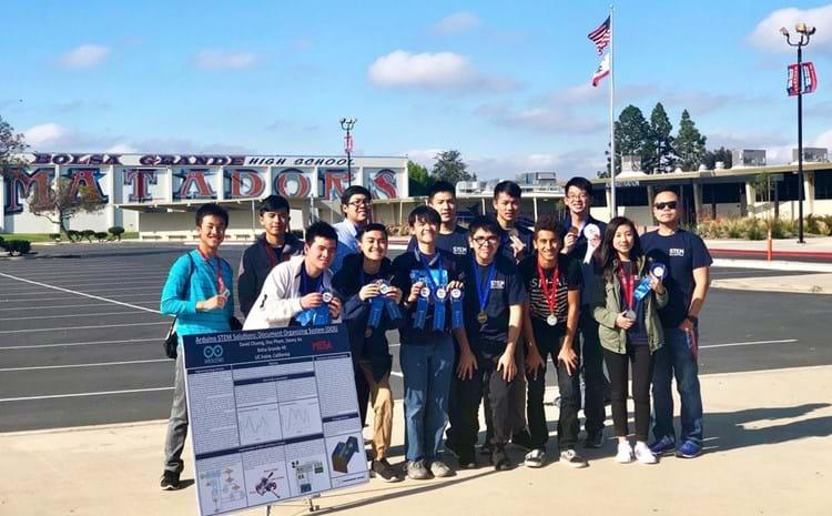 Bolsa Grande Students displaying their Engineering Design.