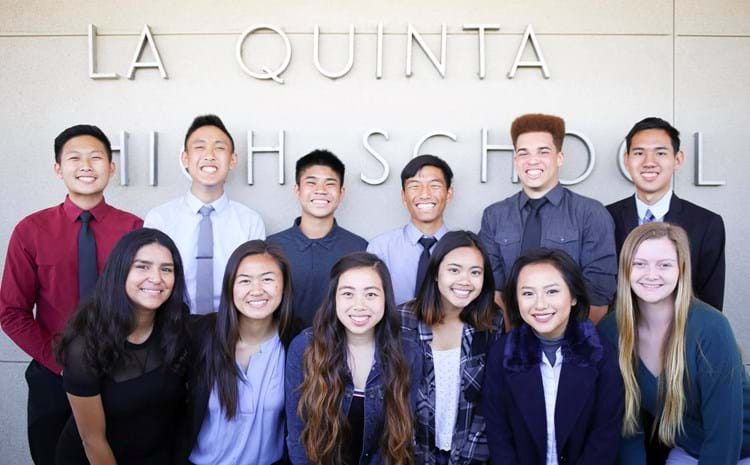 La Quinta students celebrating Best High schools ranking.