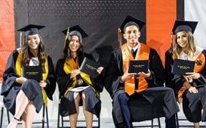 Los Amigos students at their high school graduation.