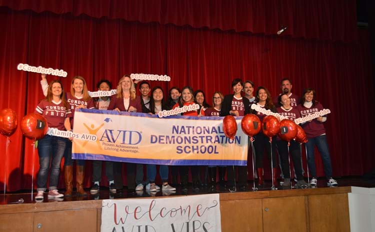 Alamitos Celebrates Its AVID National Demonstration Honor
