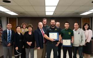 Rancho Alamitos at the Athletes and Coaches of Character Award Presentation.