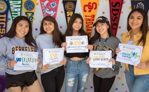 College-Bound Students from Santiago High School