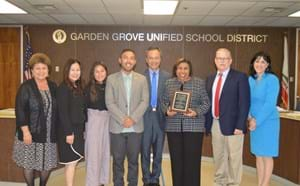 Sylvia Mendez with Board of Education